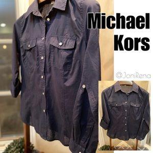 🎀 MK Button Up Top | Michael Kors Blouse SIZE L🎀